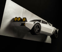 Rally Legend  - Papercraft Car Sculpture -  Preorder