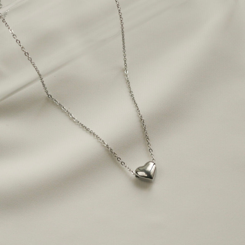 Diana Heart Necklace (Silver)