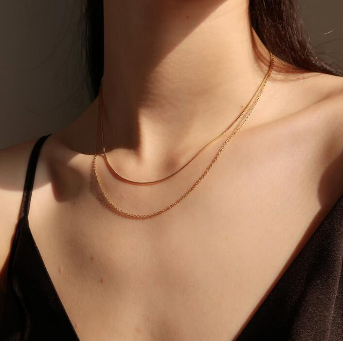 Olivia Layered Necklace (Gold)
