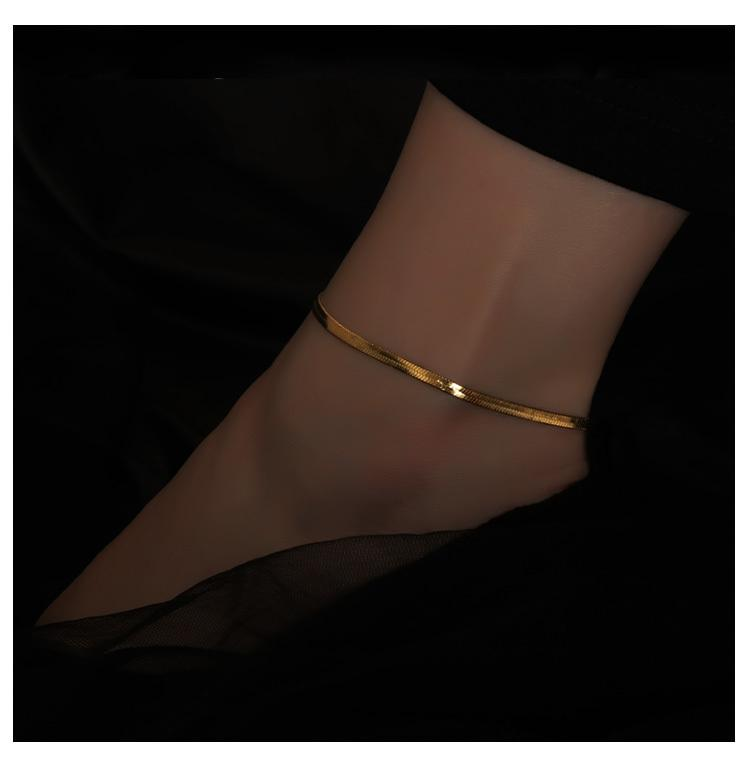 Paige Snake Chain Anklet - Plenty Collection