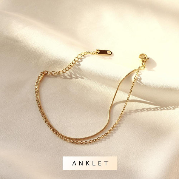 Willow Layered Anklet - Plenty Collection
