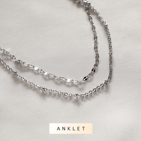Amaya Layered Anklet (Silver) - Plenty Collection