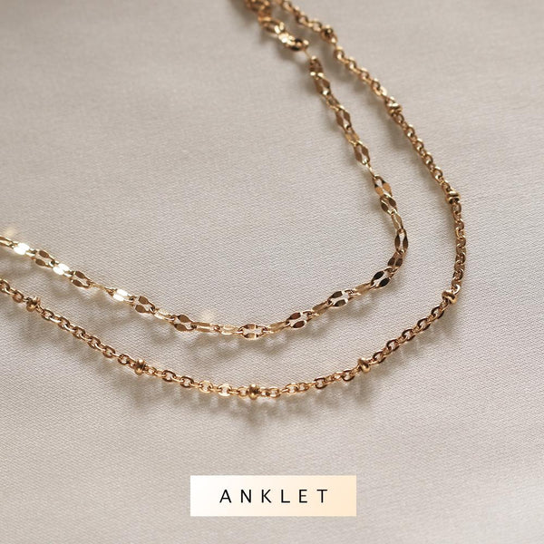 Amaya Layered Anklet (Gold) - Plenty Collection