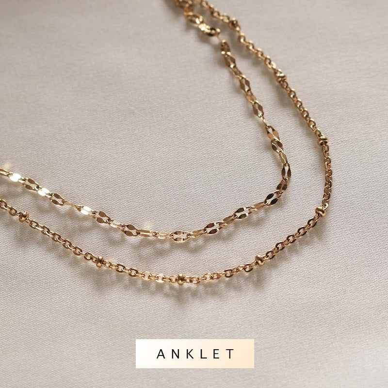 Amaya Layered Anklet (Gold)