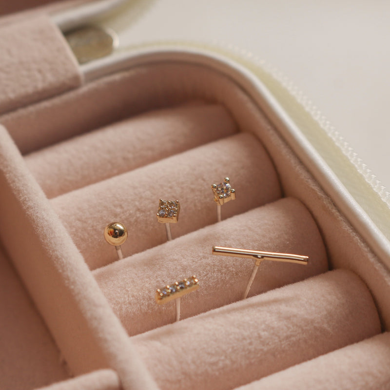 Jordyn Stud Earrings Set (Gold) - Plenty Collection