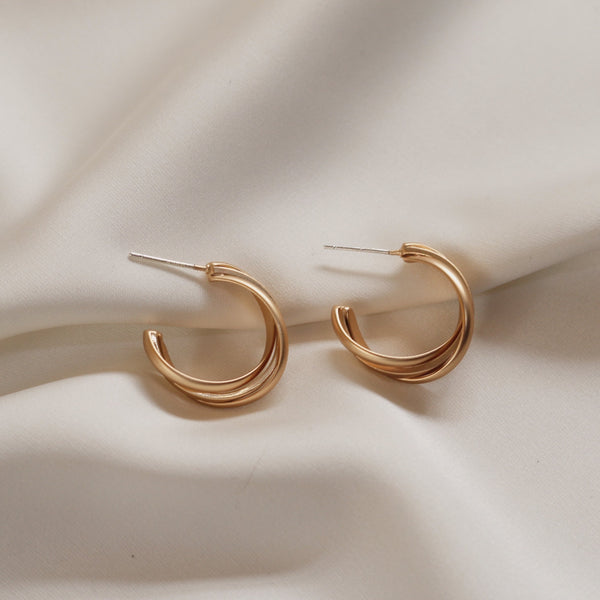 Trinity Hoop Earrings - Plenty Collection