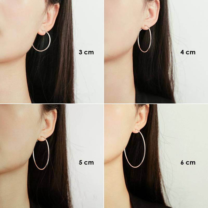 Basic Hoop Earrings (Silver)