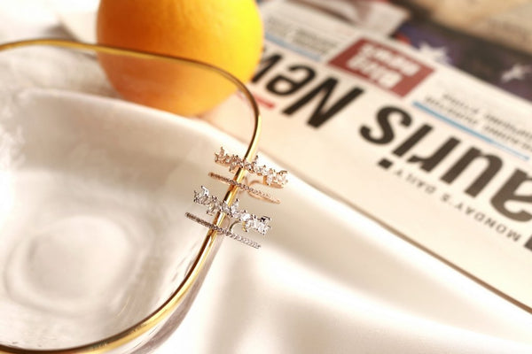 Leafs Layered Ring (Silver)
