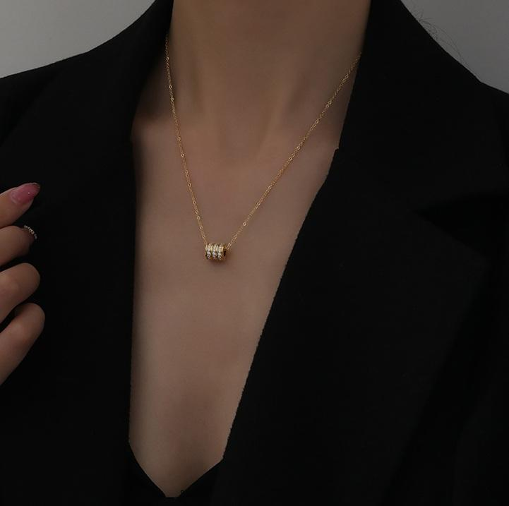 Kinsley Necklace (Rose Gold) - Plenty Collection
