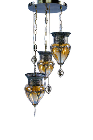 Augusto Antique Pendant Lamp-3 Lights - Stello Light Studio