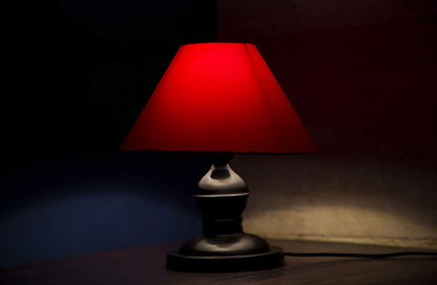 Carlito Conical Shade Table Lamp (Red)