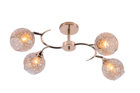 MAGRO Gold Ceiling Chandelier - 4 Lights