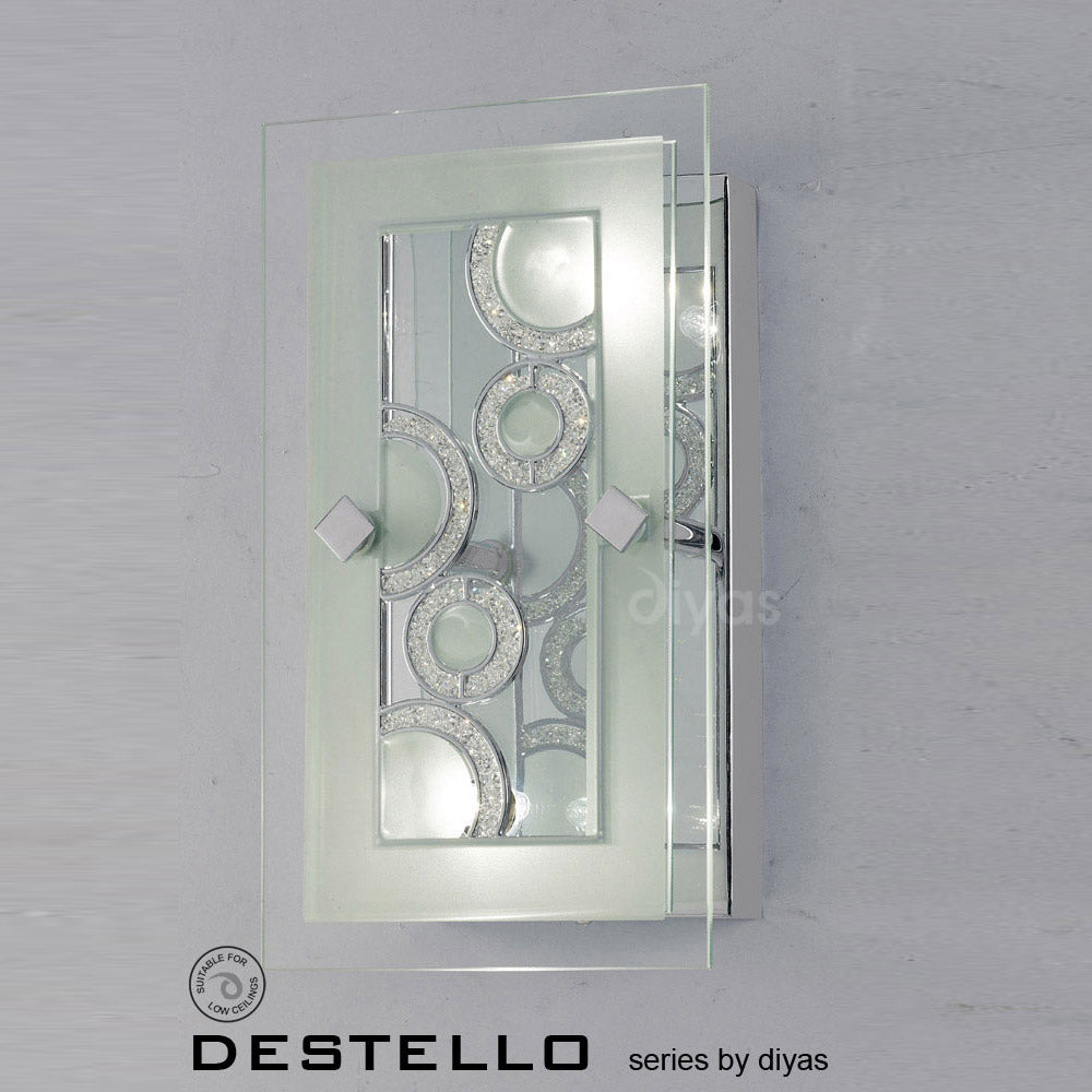 Diyas Destello Two Light Wall and Ceiling Lamp