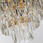 Oscuro Black Metal and Crystal Chandelier - Stello Light Studio