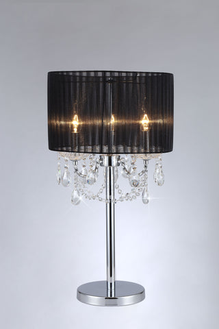 SPARKLER Black Fabric Table Lamp - 3 Lights - Stello Light Studio
