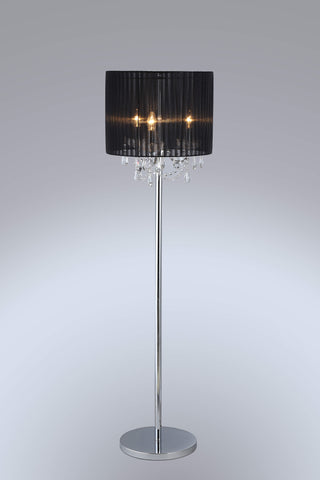 SPARKLER Black Fabric Floor Lamp - 3 Lights - Stello Light Studio