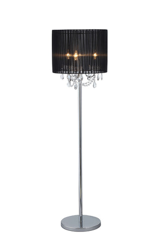 SPARKLER Black Fabric Floor Lamp - 3 Lights