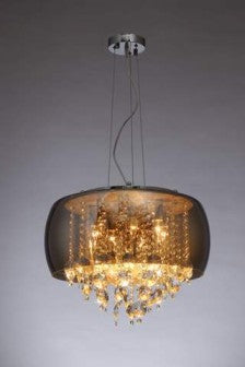 Crest Crystal Chandelier- 8 Lights - Stello Light Studio