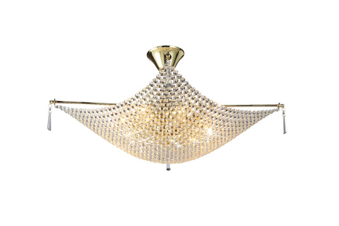 KAPARI Gold Ceiling Light - 8 Lights