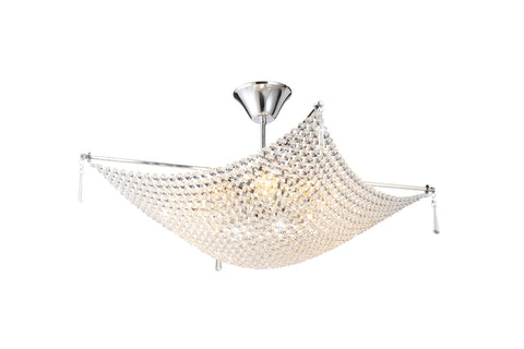 KAPARI Chrome Ceiling Light - 8 Lights