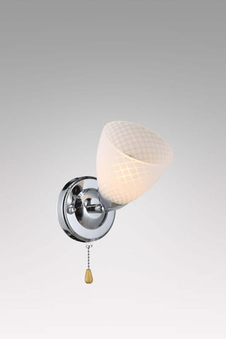 SWILLET Chrome Wall Light With Wire Pulling Switch - Stello Light Studio
