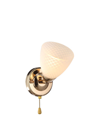 SWILLET Gold Wall Light With Wire Pulling Switch