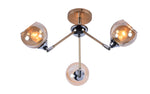 BRISK Gold Ceiling Light - 3 Lights - Stello Light Studio