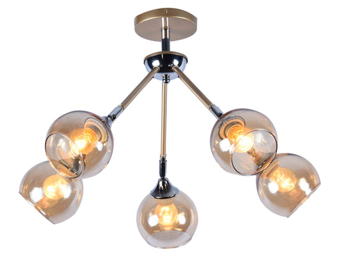BRISK Gold Ceiling Light - 5 Lights - Stello Light Studio