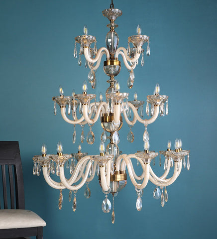 PERLA Crystal Glass Chandelier