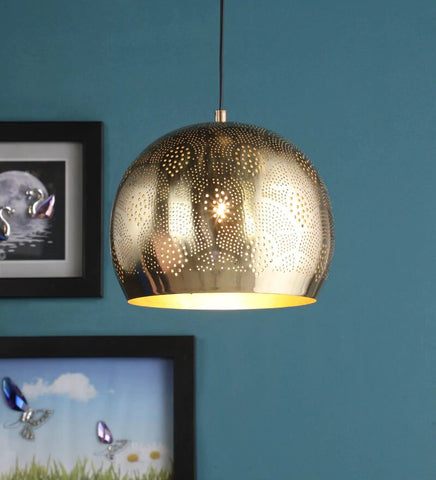 Acorn Antique Brass Metal Hanging Light - Stello Light Studio