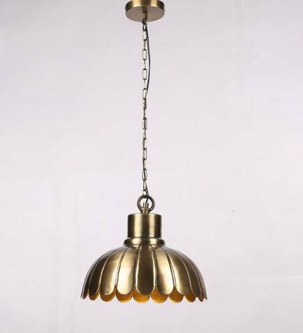 Acorn Antique Brass Metal Hanging Light