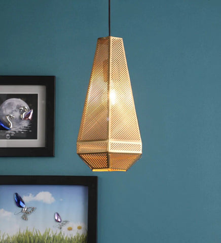 Acorn Antique Gold Metal Hanging Light - Stello Light Studio
