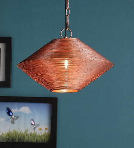 Acorn Copper Metal Hanging Light