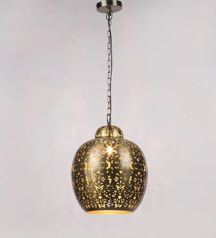 Acorn Gold Metal Hanging Light
