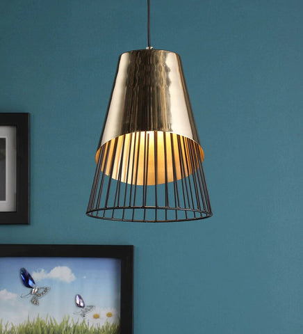 Acorin Gold Metal Hanging Light - Stello Light Studio