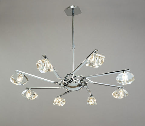 ALFA PENDANT 8 LIGHT POLISHED CHROME