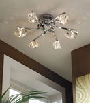 ALFA CEILING 6 LIGHT POLISHED CHROME - Stello Light Studio