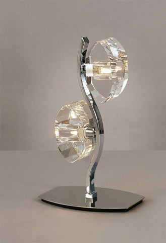 ALFA TABLE LAMP 2 LIGHT POLISHED CHROME