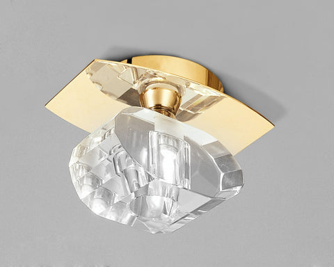 ALFA CEILING 1 LIGHT FRENCH GOLD