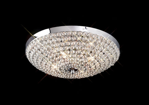 AVA CEILING 4 LIGHT POLISHED CHROME - Stello Light Studio