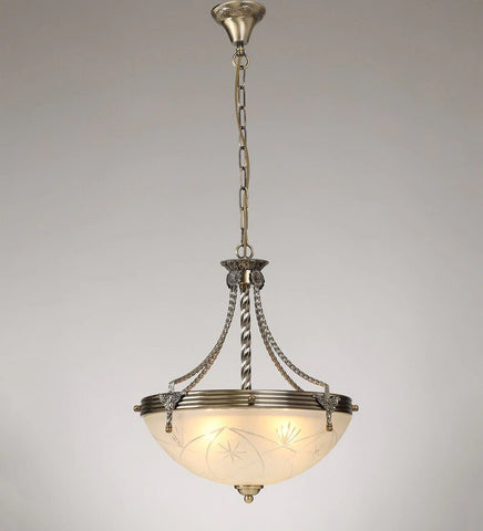 ARENA Antique Gold Pendant - 3 Lights