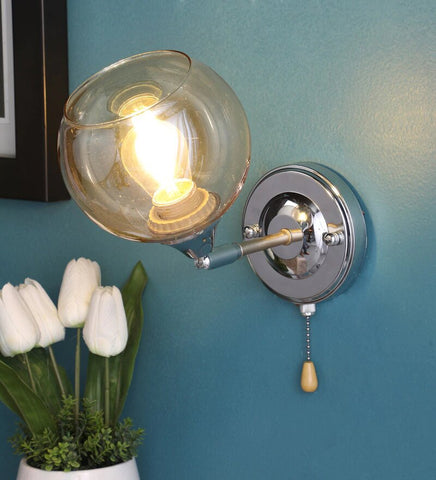 Brisk Chrome Metal and Glass Wall Light - Stello Light Studio