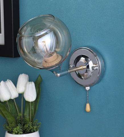 Brisk Chrome Metal and Glass Wall Light