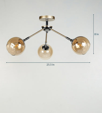 BRISK Gold Ceiling Light - 3 Lights
