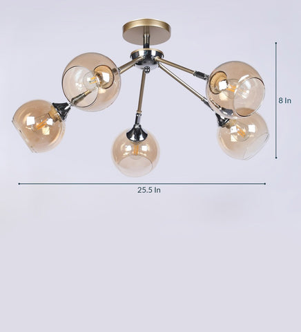 BRISK Gold Ceiling Light - 5 Lights