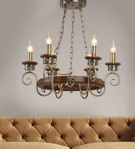 ANTIQUE CHANDELIER- 6 LIGHTS - Stello Light Studio