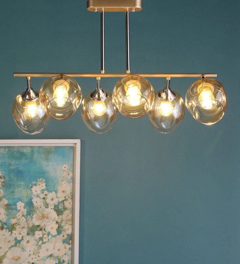 CHIARO Gold Ceiling Light - 6 Lights
