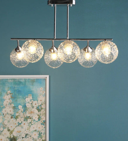 CHIARO Chrome Ceiling Light - 6 Lights - Stello Light Studio