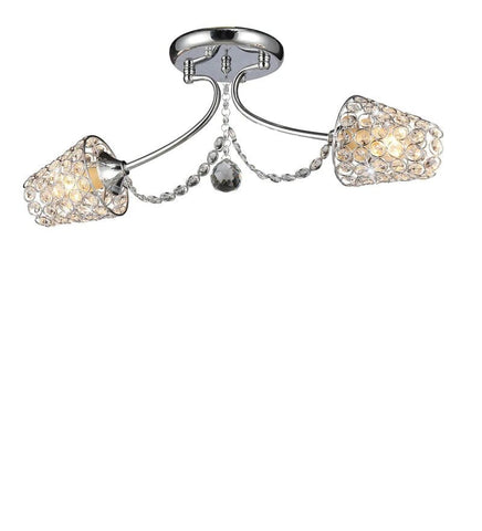 CASTER Chrome Ceiling Light - 2 Lights