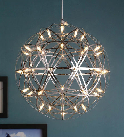 Doblar Chrome Metal Chandelier - Stello Light Studio